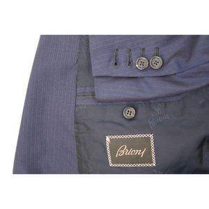 Brioni men's 46R brunico wool sport coat striped